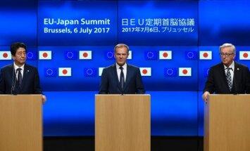 Shinzo Abe, Donaldas Tuskas, Jeanas-Claude`as Junckeris