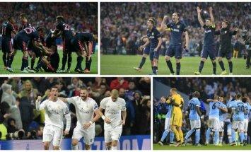 Čempionų lygos pusfinalio poros (SIPA, AP, AFP, Reuters)