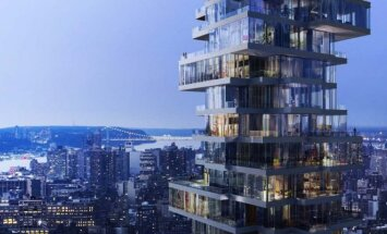 """60 aukštų pastatas, kuris primena žaidimą """"Jenga"""""""