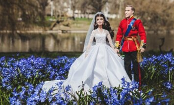 Princo Williamo ir K. Middleton lėlės. Fotografo Pauliaus Gvildžio nuotr.