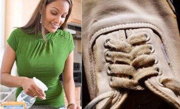 Sportinius batelius išvalyti padės priemonės iš virtuvės
