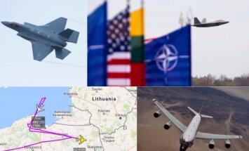 JAV lėktuvų misija Baltijos šalyse