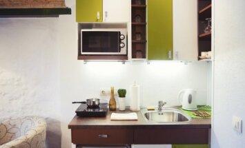 Išsamiai apie tai, kaip įsirengti virtuvę mažoje patalpoje