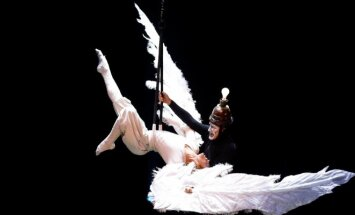 """Cirque du Soleil"" pasirodymo akimirka"