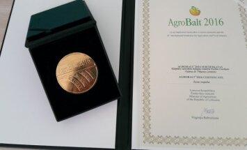 """""""Agrobalt2016"""" aukso medalis ir sertifikatas"""