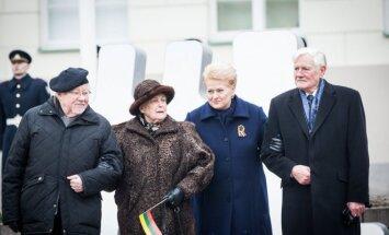 Prezidentė Dalia Grybauskaitė, Valdas Adamkus, Vytautas Landsbergis su žmona