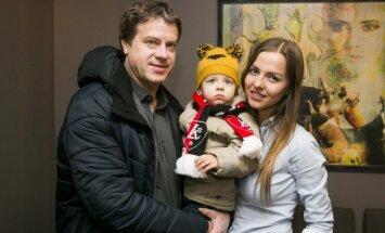 Rolandas Skaisgirys su šeima