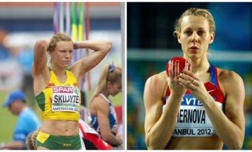 Austra Skujytė ir Tatjana Černova (A. Pliadžio/Reuters nuotr.)