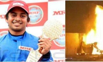 Garsus Indijos lenktynininkas Ashwinas Sundaras šeštadienį ryte žuvo autokatastrofoje.