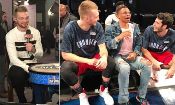 Domantas Sabonis spindėjo NBA šventėje (Twitter nuotr.)