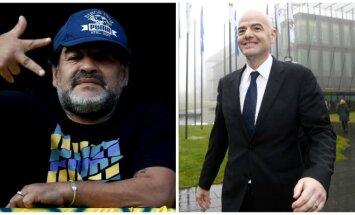 Diego Maradona ir Gianni Infantino