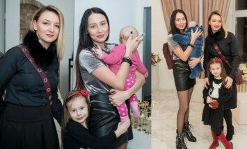 Viktorija Mauručaitė su dukromis bei anūke