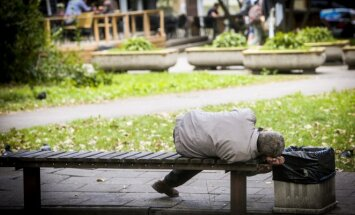 Homeless person in Lithuania