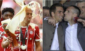 Bayern švenčia čempionų titulą