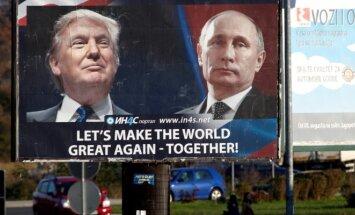 D. Trumpas ir V. Putinas