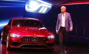 Mercedes-AMG GT Concept ir kompanijos vadovas Dieteris Zetsche