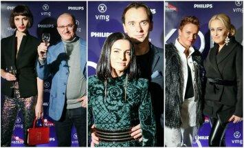 Monika Račiūnaitė ir Aleksandras Pogrebojus, Agnė Jagelavičiūtė ir Mantas Volkus bei Elena Puidokaitė (dešinėje).