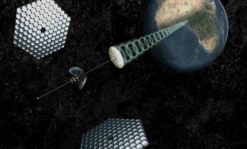 Saulės elektrinė kosmose, SpaceWorks Engineering vizualizacija