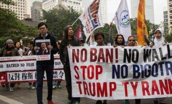Protestai prieš D. Trumpo imigracijos politiką