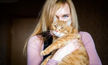 Katinas Gintaras su savo šeimininke
