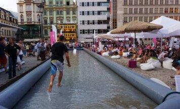 Paplūdimiai ir vandens pramogos miesto centre