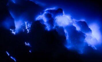 Ijen ugnikalnio mėlyna ugnis