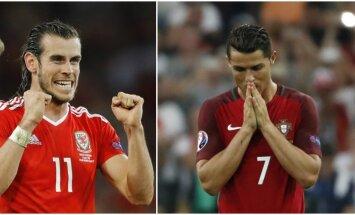 Garethas Bale'as ir Cristiano Ronaldo (AP ir Reuters nuotr.)