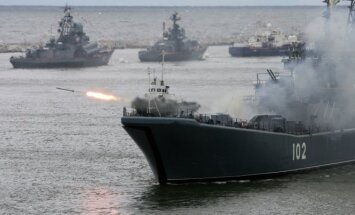 Russian Baltic fleet on exercises in Kaliningrad