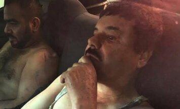 Sučiuptas Meksikos narkotikų baronas Joaquinas Guzmanas, pravarde El Chapo
