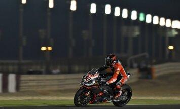 Motociklininkų treniruotė naktį