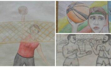 Vytauto Didžiojo gimnazijoje – piešinių paroda