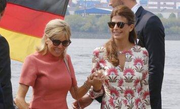 Prancūzijos prezidento Emmanuelio Macrono žmona Brigitte Macron ir Juliana Awada, Argentinos prezidento žmona