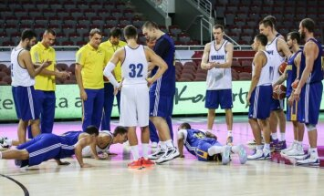 Ukrainos vyrų krepšinio rinktinės treniruotė