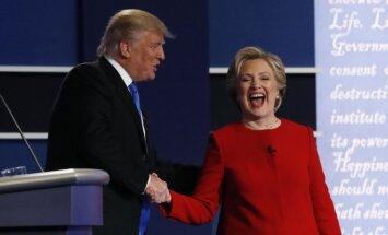 H. Clinton į miltus sumaltas D. Trumpas svaidėsi įžeidimais