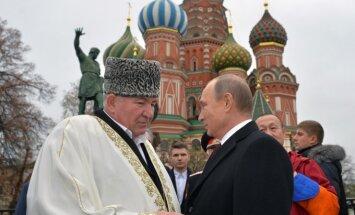 Muftijus Ismailas Berdijevas ir Vladimiras Putinas