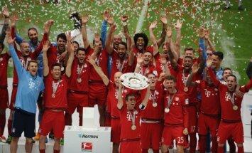 Vokietijos čempionai Miuncheno Bayern futbolininkai