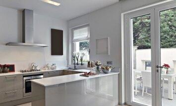 Pilka virtuvė – rafinuota ir elegantiška