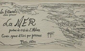 Prano Gailiaus knygos La Mer puslapis