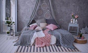 Tam, kad kiekviena diena būtų ypatinga: lovos dekoras pledais
