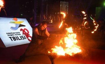 Europos jaunimo olimpinio festivalio uždarymas Tbilisyje