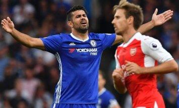 Diego Costa rungtynėse su Arsenal