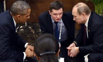 Barackas Obama ir Vladimiras Putinas tariasi dėl Sirijos