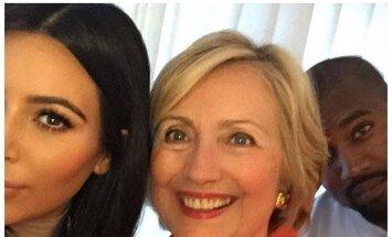 Kim Kardashian ir Hillary Clinton