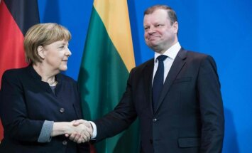 Merkel and Skvernelis