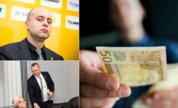 Nerijus Dunauskas ir Mindaugas Špokas turi daugiausiai pavaldinių, didžiausi ir pastarųjų atlyginimai