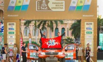 A. Juknevičius ir D. Vaičiulis ant starto podiumo