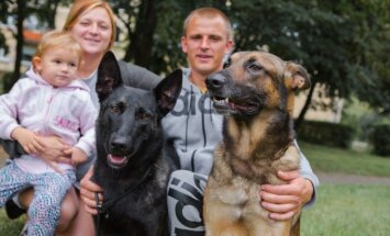 Šunys padovanojo ir šeimą, ir profesiją