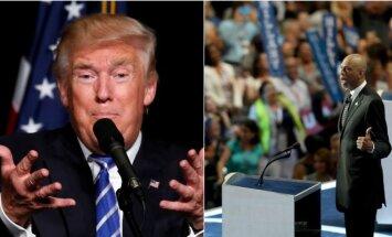 Donaldas Trumpas ir Kareemas Abdul-Jabbaras (AP ir Sipa nuotr.)