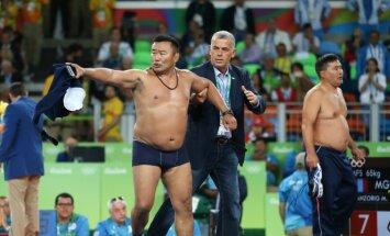Mongolijos imtynių trenerių protestas