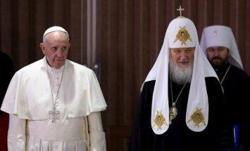 Popiežius Pranciškus ir Rusijos Ortodoksų Bažnyčios patriarchas Kirilas
